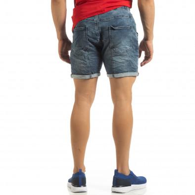 Еластични сини мъжки дънки it090519-42 3