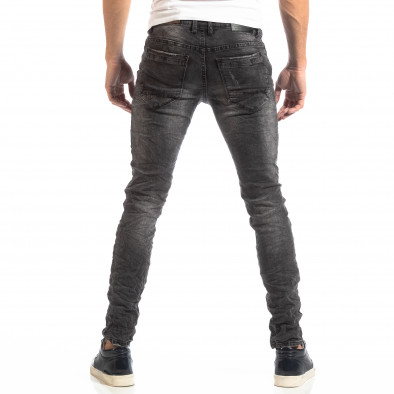 Намачкани мъжки дънки в сиво Slim fit it261018-8 4