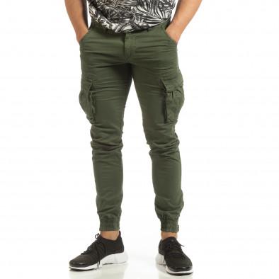 Мъжки зелен карго джогър с ципове на крачолите it090519-11 3