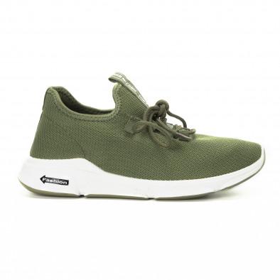 Плетени зелени мъжки маратонки  it221018-37 2