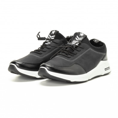 Комбинирани черни мъжки маратонки it221018-34 3