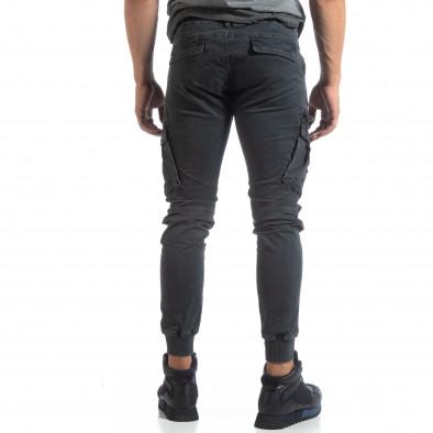 Мъжки сив панталон Cargo Jogger  it170819-9 4