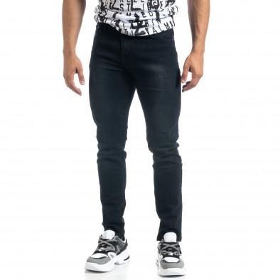 Slim fit мъжки черни дънки it041019-19 2