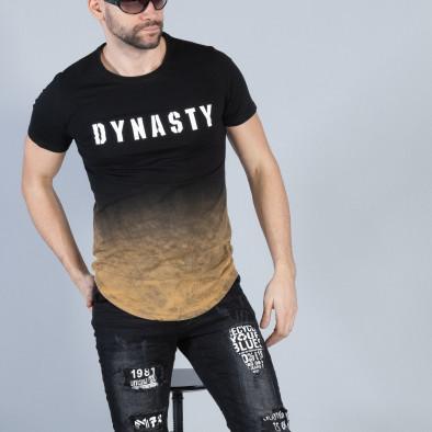 Черна мъжка тениска Dynasty it040219-120 2