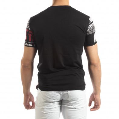 Мъжка тениска Exclusive News в черно it150419-87 3