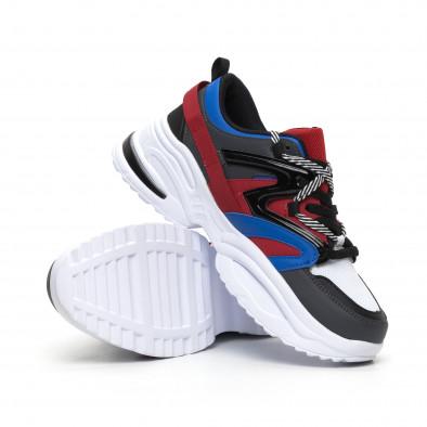 Синьо-червени мъжки маратонки Chunky дизайн it260919-34 4