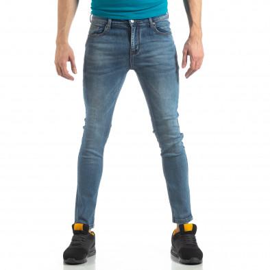 Еластични мъжки дънки Slim fit в синьо it210319-4 2