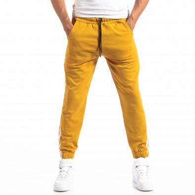 Мъжки жълт Jogger с бели кантове it250918-50 3