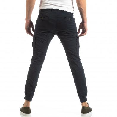Син карго панталон с трикотажни маншети it210319-21 4