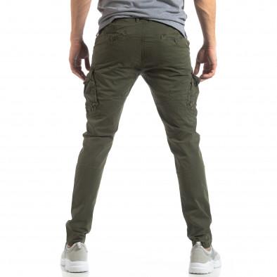 Мъжки панталон тип карго в зелено it210319-23 4