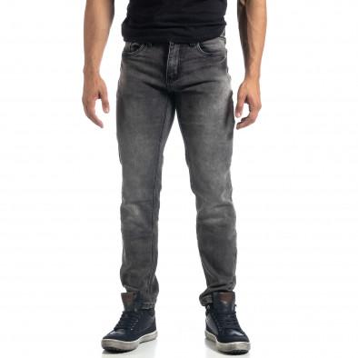 Еластични мъжки сиви дънки Regular fit it041019-23 2