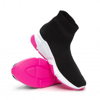 Черни дамски маратонки тип чорап Chunky подметка it240419-57 4