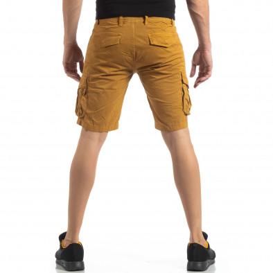 Мъжки карго бермуди цвят камел it210319-43 4