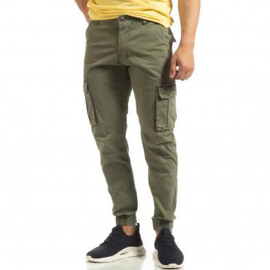 Мъжки карго джогър панталон в зелено it090519-8 2