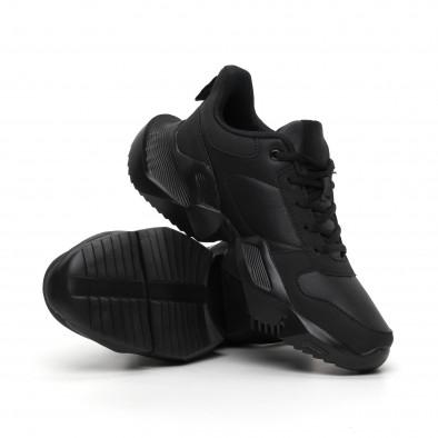 Extra Chunky мъжки леки маратонки в черно it260919-30 5