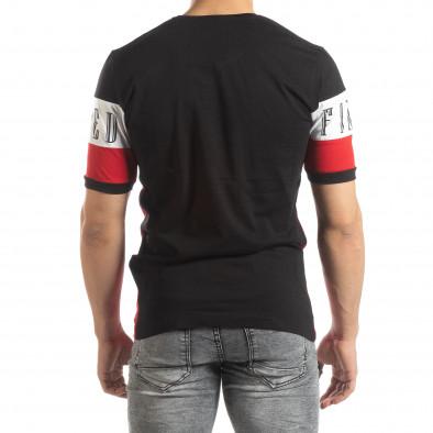 Мъжка тениска в черни и червени блокове it150419-74 3