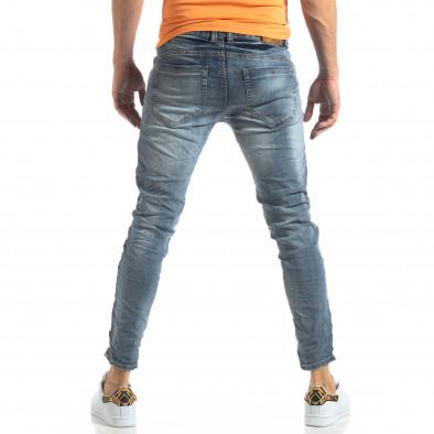 Washed Slim Jeans в сиво-синьо it210319-9 4