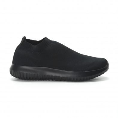 Ниски мъжки маратонки тип чорап All black it190219-11 2