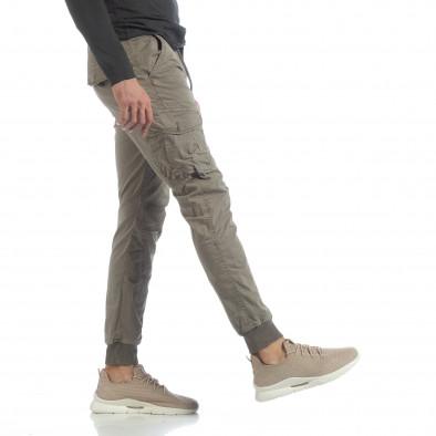 Мъжки Cargo Jogger панталон в сиво-бежово it040219-29 5