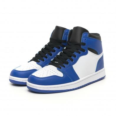 Високи мъжки кецове в синьо и бяло it251019-21 4