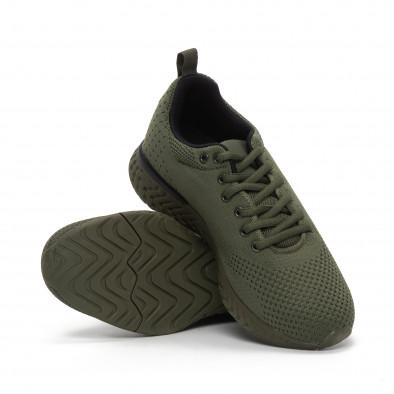 Плетени мъжки зелени маратонки it240419-12 4