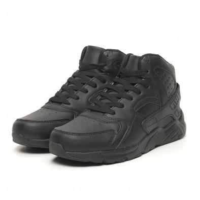 Леки високи мъжки маратонки All black it251019-4 3