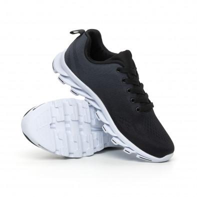 Черни мъжки маратонки с релефна подметка it130819-33 4