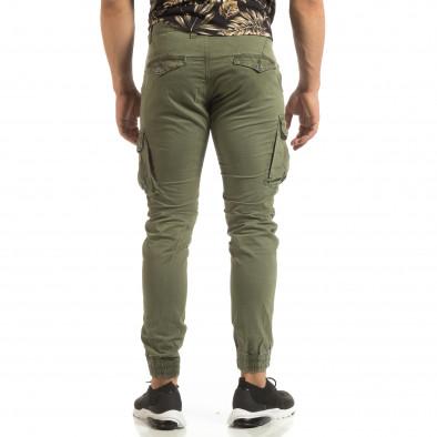 Мъжки зелен Cargo Jogger в рокерски стил it090519-18 4