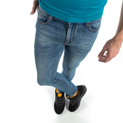 Еластични мъжки дънки Slim fit в синьо it210319-4 3