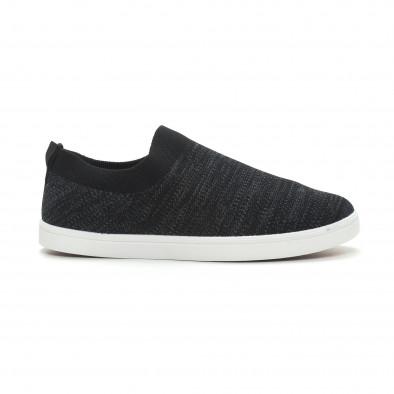 Мъжки гуменки тип чорап черен меланж it150319-15 2
