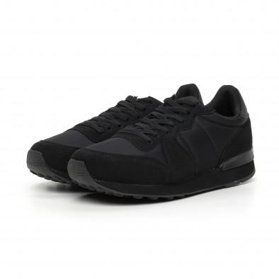 Леки мъжки черни маратонки it130819-13 3