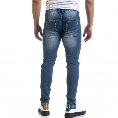 Slim fit мъжки сини дънки с прокъсвания it110320-6 3