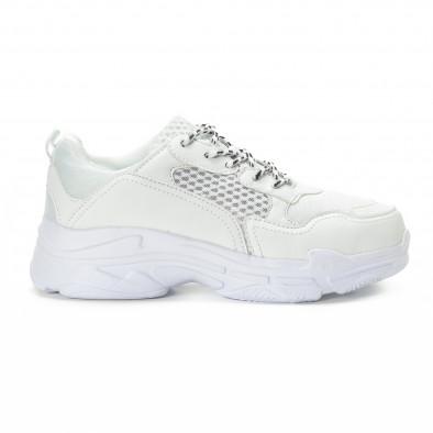 All white мъжки комбинирани маратонки it221018-39 2