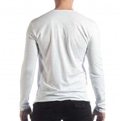 Мъжка блуза V-neck в бяло it040219-89 3