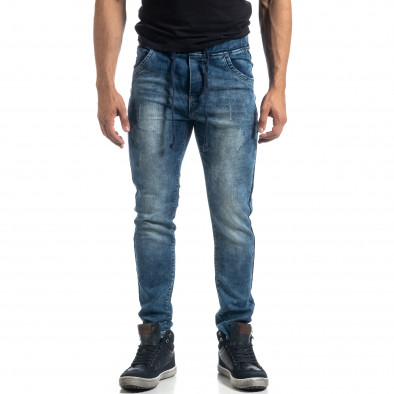 Еластични мъжки сини дънки Jogger it041019-22 2