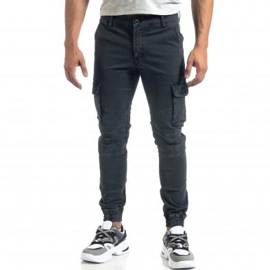 Мъжки рокерски карго панталон в сиво it041019-41 3