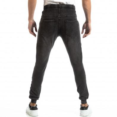 Рокерски мъжки Jogger в цвят черен деним it261018-48 4