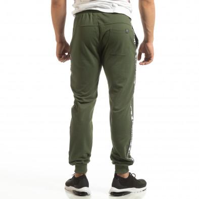 Мъжко долнище в зелено с лого кантове it090519-21 3