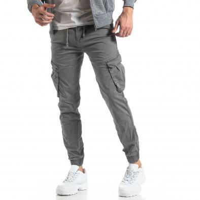 Мъжки Cargo Jogger в сиво it210319-16 2