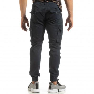 Мъжки карго джогър панталон в синьо it090519-10 4