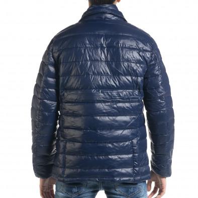 Мъжка синя пухенка тип блейзер it091219-16 4