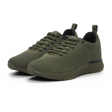 Плетени мъжки зелени маратонки it240419-12 3