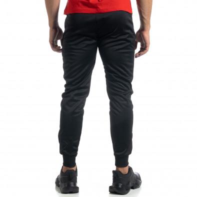 Мъжки черен Jogger червени акценти it041019-6 4