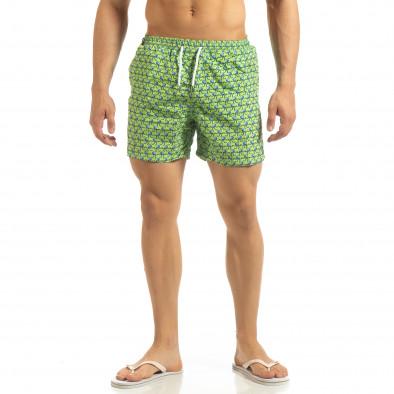 Мъжки зелен бански Octopus мотив it090519-94 2