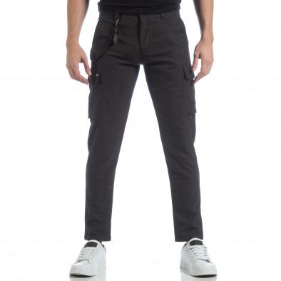 Мъжки фин панталон в сив меланж it040219-42 3