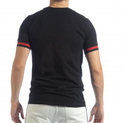 Мъжка черна тениска Heraldic it040219-115 3
