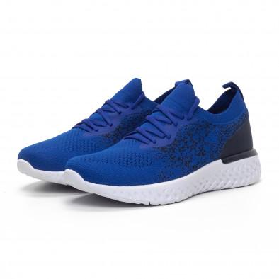Меки мъжки маратонки син меланж it240419-11 3