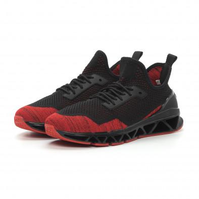 Леки мъжки маратонки Knife в черно и червено it150319-25 4