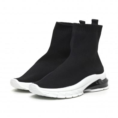Черни дамски маратонки тип чорап it260919-53 3