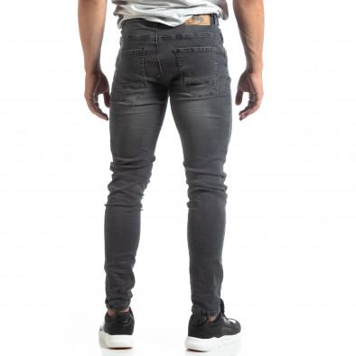 Slim fit мъжки сиви дънки с прокъсвания it170819-40 3